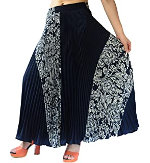 89533017d8be YSJ Womens Pleated Long Maxi Skirt - 35.4