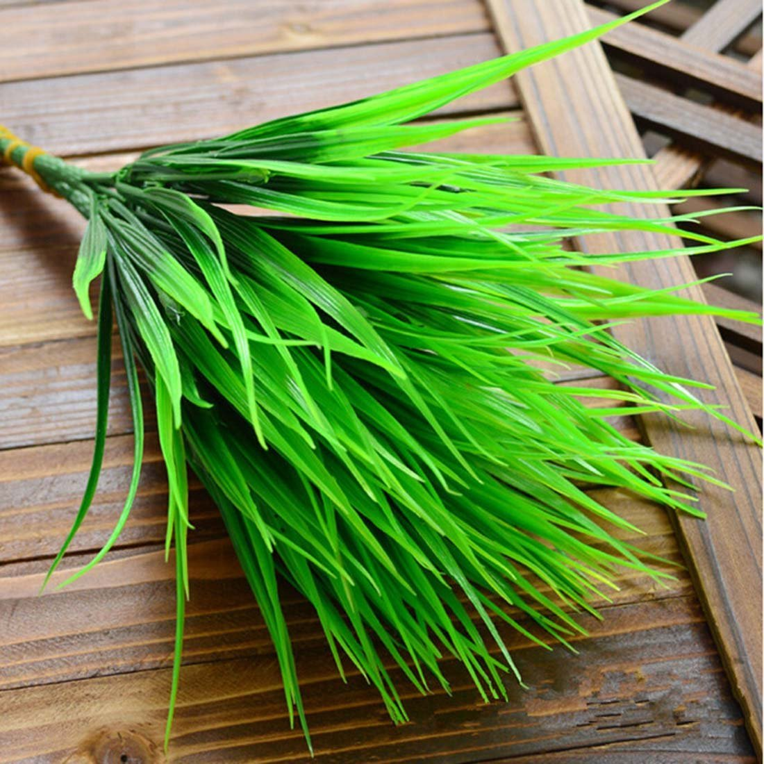 7-fork Green Grass Artificial Plants For Plastic Flowers Household Store Desk Rustic Clover Plant ASTrade LEPAZIK3457