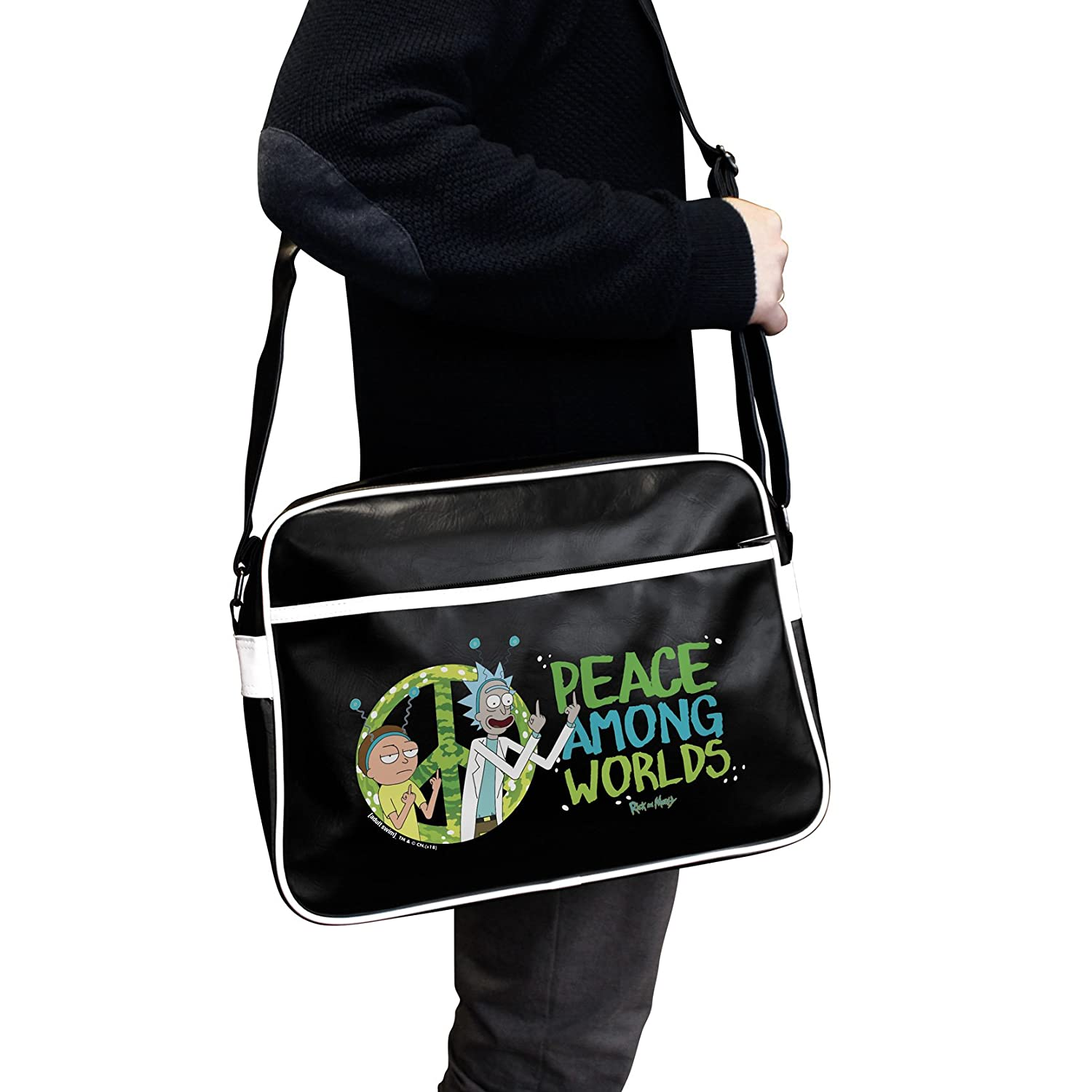 Vinyle Rick and Morty ABYstyle Sac Besace Peace