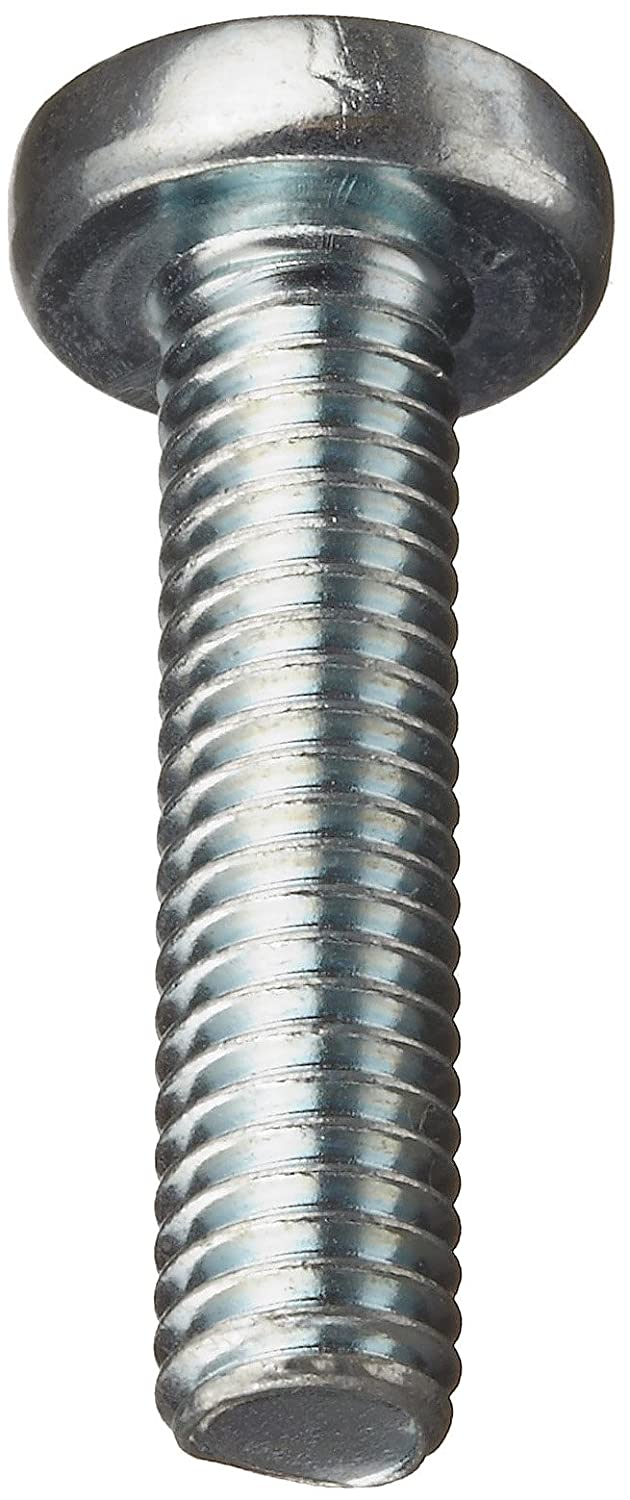 5mm Length Zinc Plated Finish Phillips Drive Pan Head Steel Machine Screw Pack of 100 M2.5-0.45 Metric Coarse Threads