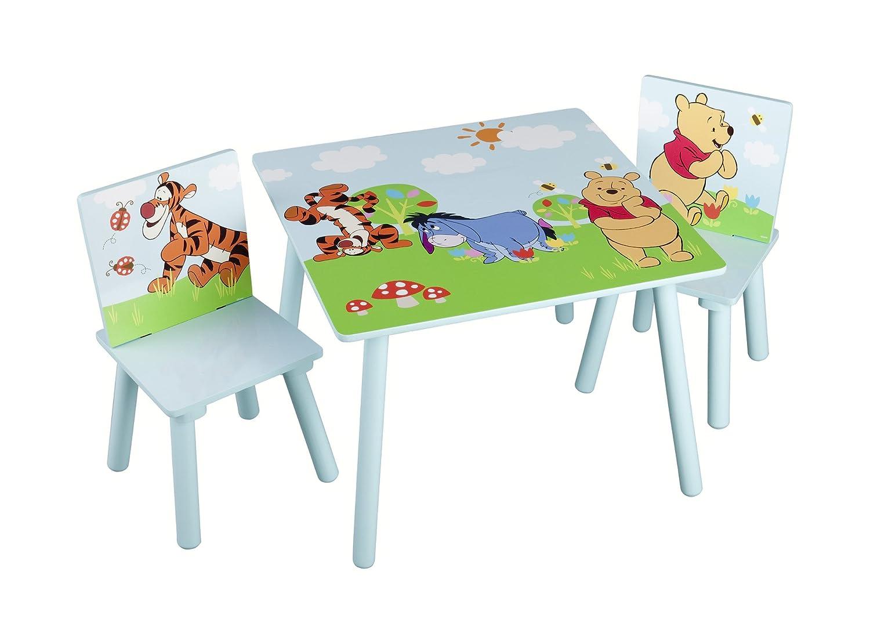 Delta TT89314WP Set Tavolino per bambini con 2 sedie Winnie the Pooh, in MDF, 60 x 60 cm Delta Children