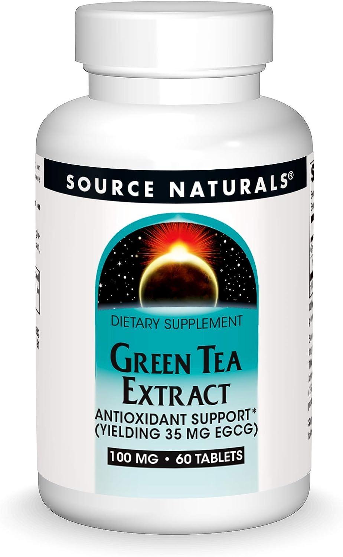 SOURCE NATURALS Green Tea Extract 100 Mg Tablet, 60 Count