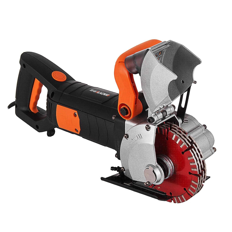 Mophorn K1331 M/áquina Ranuradora de Corte para Pared 42 mm 4800W M/áquina El/éctrica de Cazadora de Pared