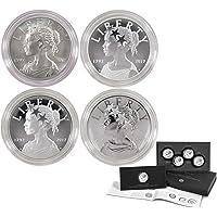 U.S. Mint 2017 American Liberty 225th Anniversary Silver 4pc Medal Set OGP