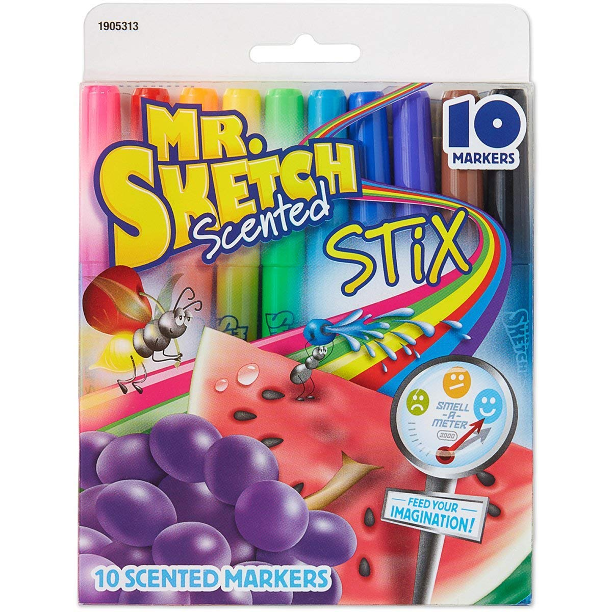 Mr. Sketch Stix Scented Markers, Fine Tip, Set of 10, Assorted Colors Case of 6 Packs