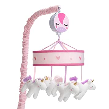 Amazon.com: Lambs & Ivy Magic Unicornio Blanco / Rosa ...