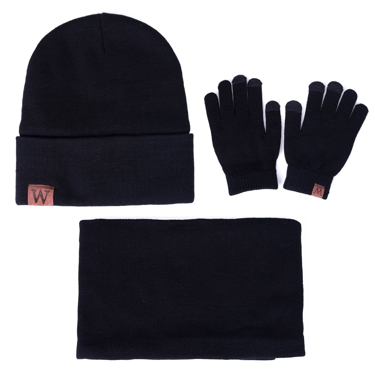 EVRFELAN Winter Warm Hat Beanie thick infinity Scarf Smart Touch screen Texting Gloves (Black) by EVRFELAN (Image #6)