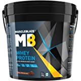 MuscleBlaze 100% Whey Protein - 8.8 lb/ 4 kg, 121 Servings (Rich Milk Chocolate)