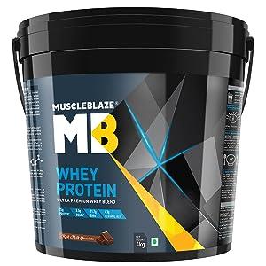 MuscleBlaze 100% Whey Protein - 4 kg/ 8.8 lb (rich milk chocolate)