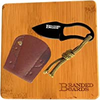 Branded Boards Bushcraft Stainless BBQ Grill Grate, Eco-Friendly Bamboo Cutting Board, Burlap Hemp Drawstring Bag, Mini…
