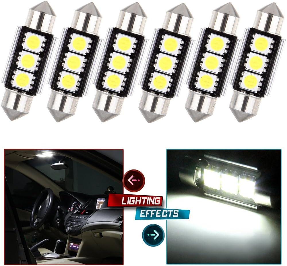 36mm 39mm 3 LED SMD 5050 Car White Festoon Canbus Bulb Light Interior Dome Lamp