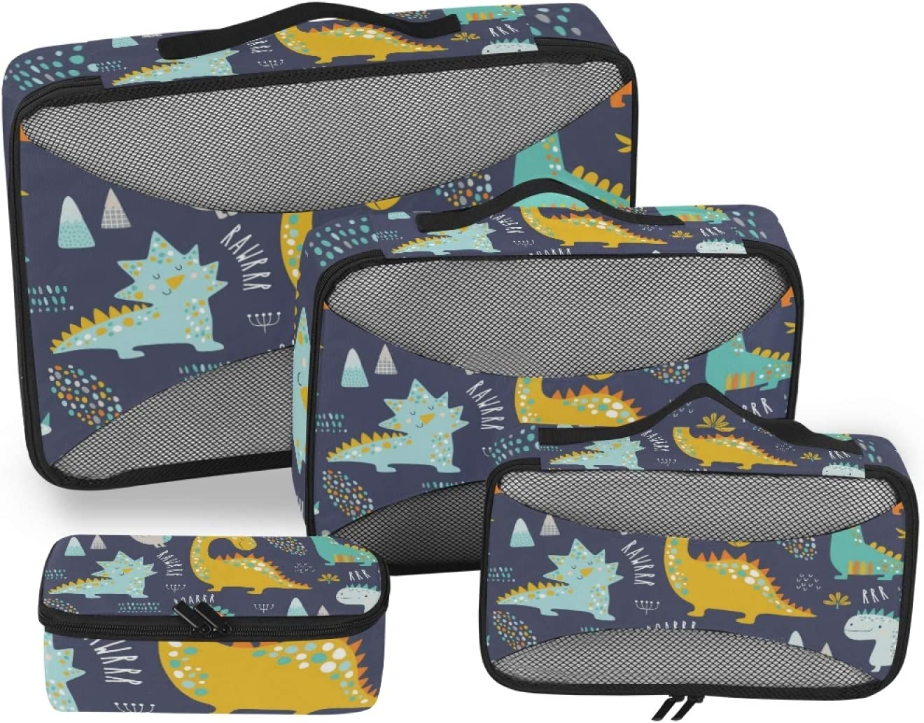 Earphone and Electronic Product Data Cable Storage Bag Hxuedan Colorful Dinosaur The Data Cable Storage Bag is A Portable and Independent Design SuitableVFor Travelers to Place The Data Cable