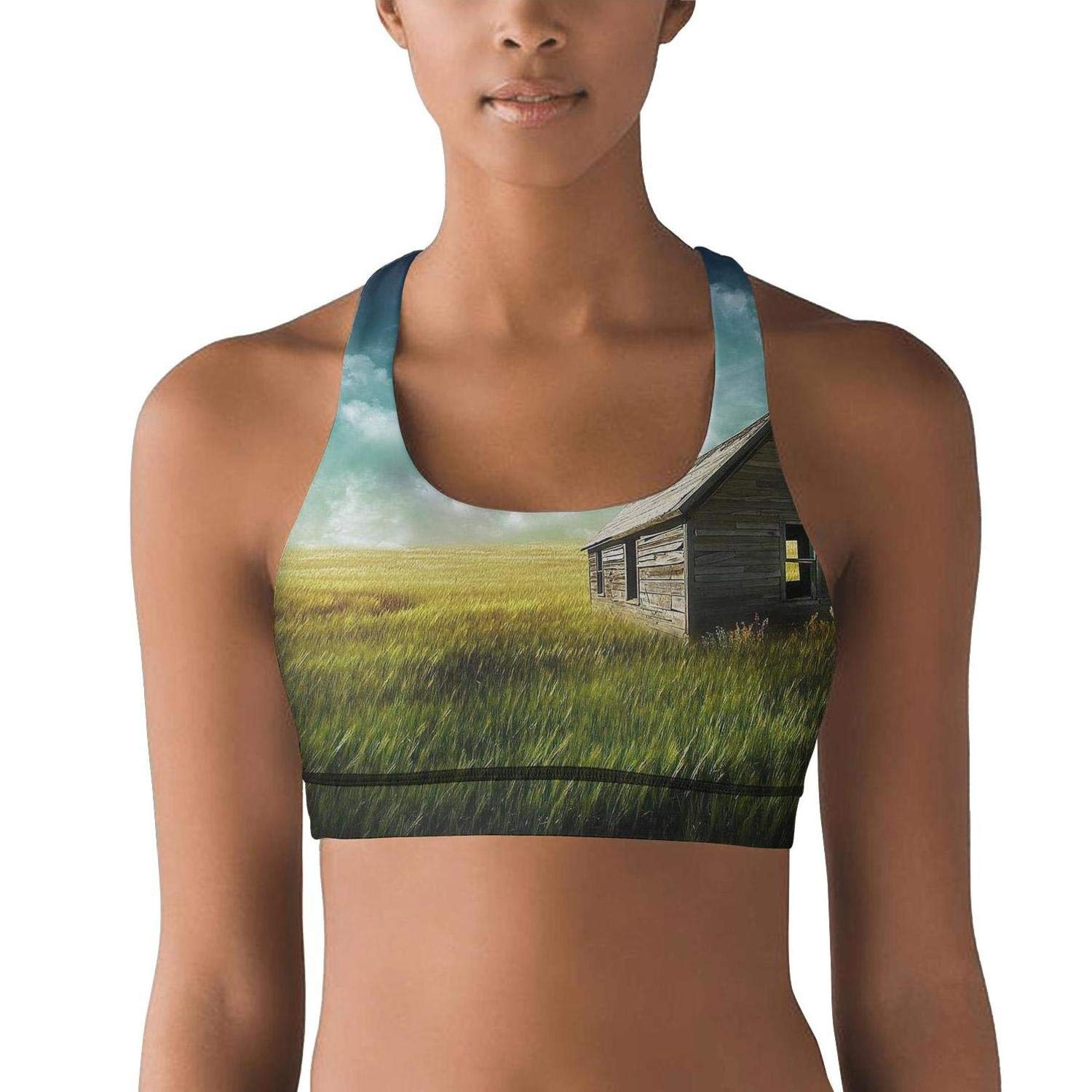 Fit Bee Animal Horse Padded Sports Bras Summer Yoga Running Crop Tank Top