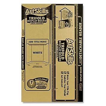 """ArtSkills Tri-Fold Display Board, Built In Header, 35.5"""" x 44"""""""