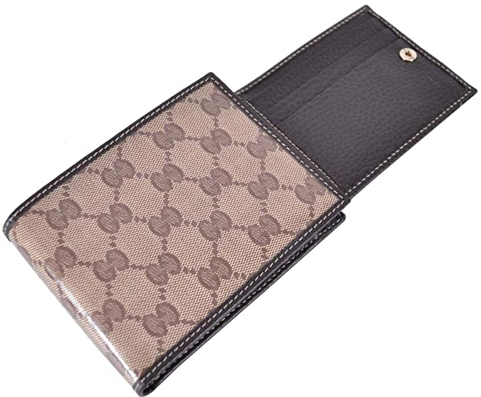 077744ef9f3 Image Unavailable. Image not available for. Colour  Gucci 217044 Men s  Crystal GG Guccissima Trifold Passcase ID Wallet