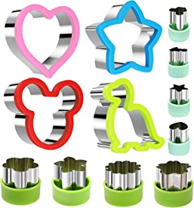 Stainless Steel Sandwiches Cutter set, Mickey Mouse & Dinosaur & Heart & Star Shapes Sandwich Cutters Cookie Cutters Vegetable cutters-Food Grade Cookie Cutter Mold for Kids Suitable for Cakes Sandwic