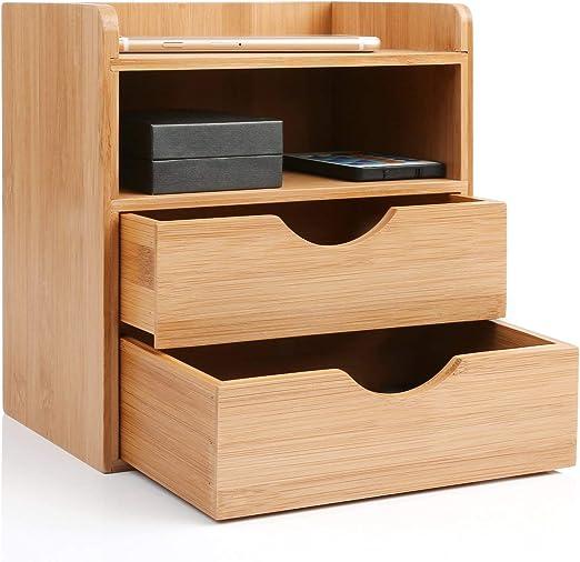 Schreibtischorganizer 2 Fächer Ordnungsbox Aufbewahrungsbox Schreibtischablage