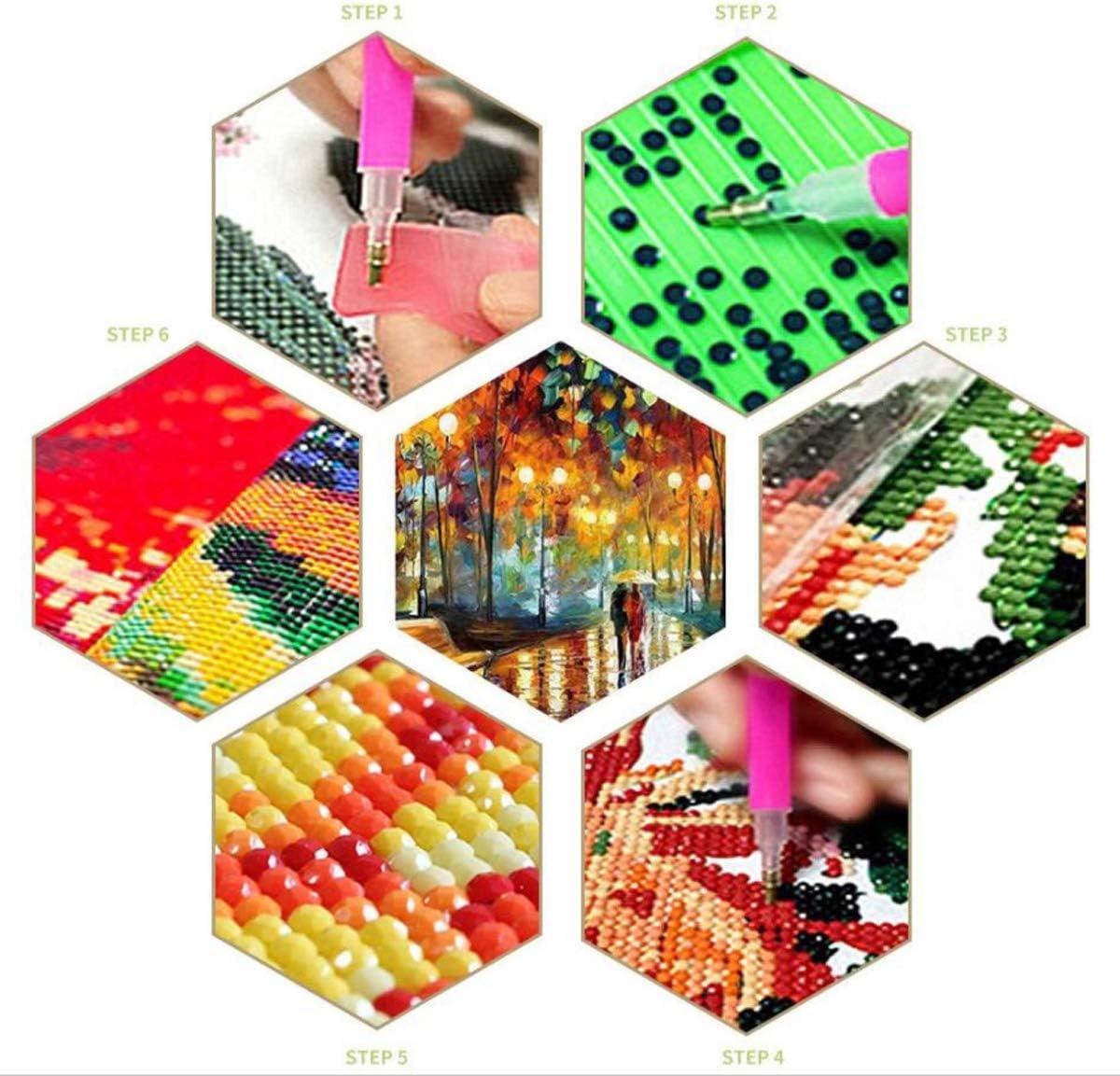 Kit Complet Diamant Bricolage Peinture Ciel Clair Bouquet De Fleurs Point De Croix Diamant Broderie Motifs Strass Mosa/ïque D/écor /À La Maison