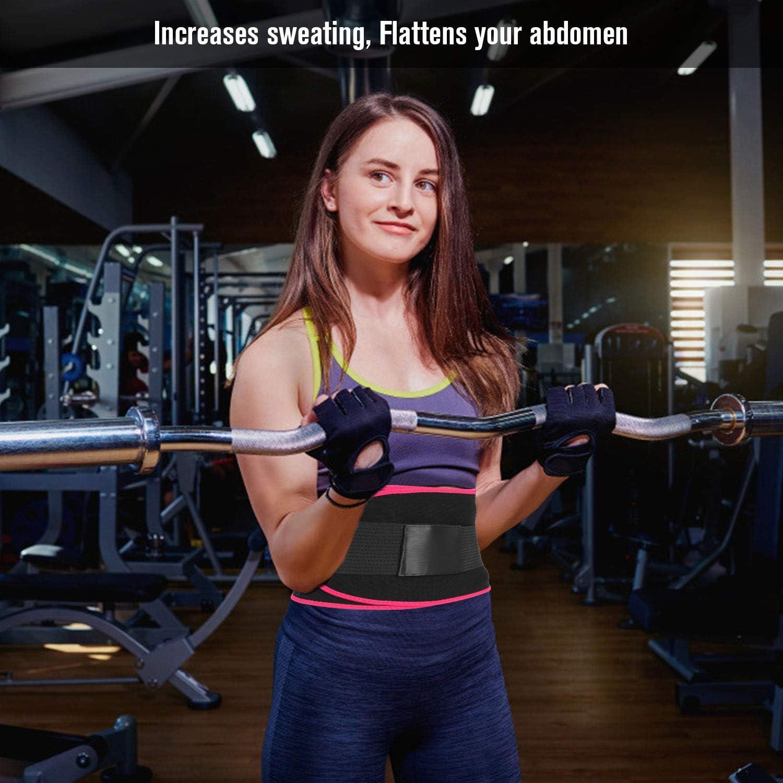 Stomach Fat Burner Trainer Belt for Men /& Women Tesyfk Waist Trimmer Belt Weight Loss Wrap Slimming Body Shaper Belt