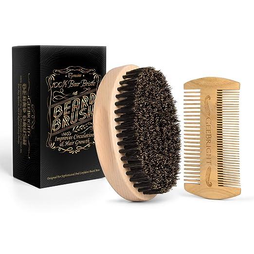 8 opinioni per Spazzola di barba, Geebright In legno handmade kit spazzola e pettine con