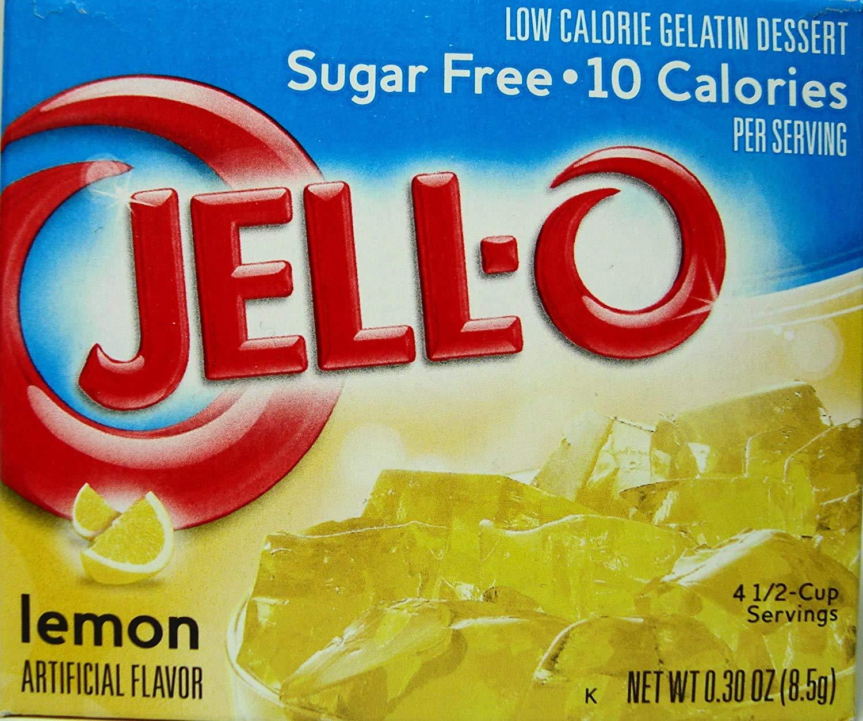 Jell-O Lemon Flavor Sugar Free Gelatin (4 Pack)