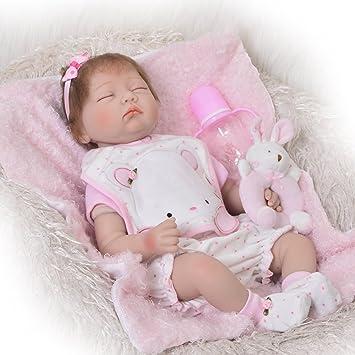 Amazon.es: Muñeco realista de silicona blanda de bebé reborn ...