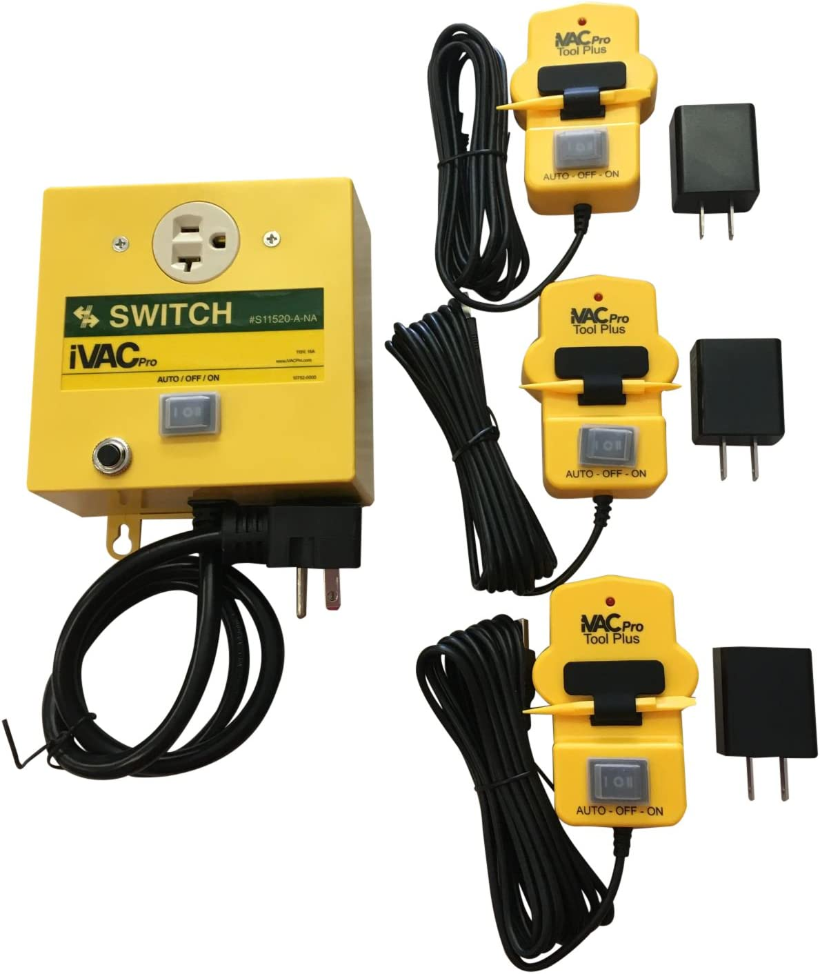 iVAC Basic 3-Tool Shop Vacuum Dust Collector Switch/Pro Tool Plus Kit