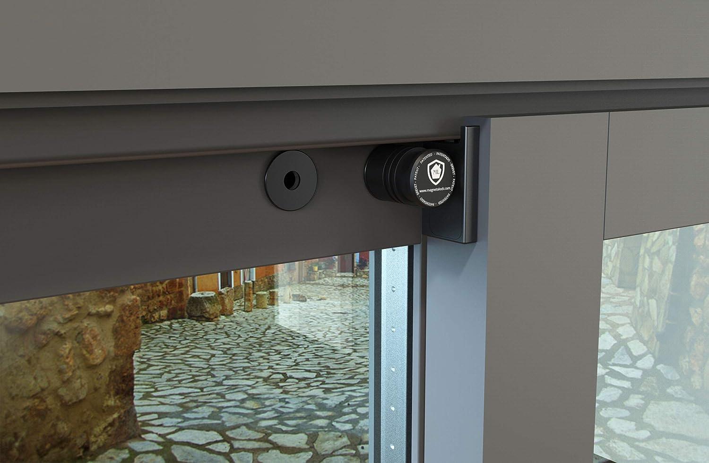 Blanco Bloqueo con ventana cerrada y abierta Beb/é Magnetolock V2.0 XL Bloqueo de Seguridad Ventanas y Puertas Correderas Ajustable posici/ón de ventilaci/ón para seguridad Ni/ños