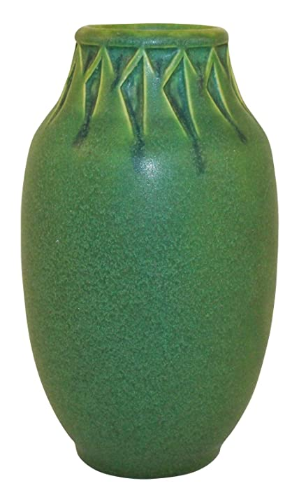 Amazon Rookwood Pottery 1910 Matte Green Carved Vase 77c
