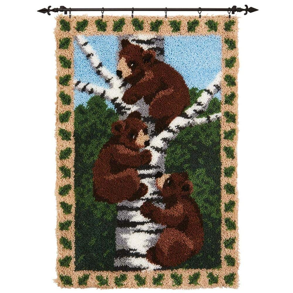 Herrschners/® Bears in The Woods Latch Hook Kit