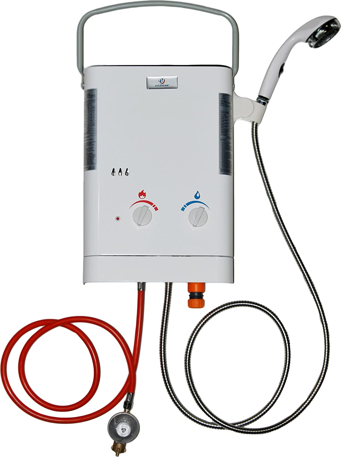 Battery Operated Water Heater Eccotemp Eccl537en Ce L5 Portable Tankless Water Heater White