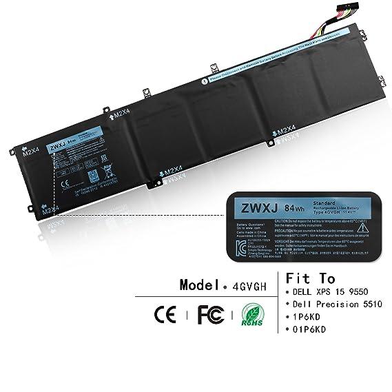Amazon Zwxj Notebook Battery Type 4gvgh 114v 84wh 7260mah