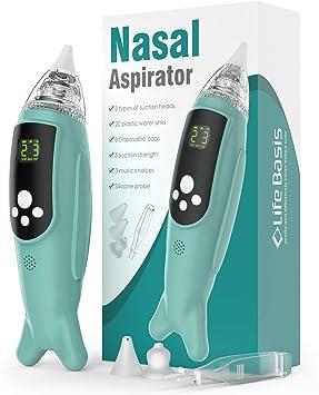 Life Basis - Aspirador nasal para bebé, aspirador nasal eléctrico ...