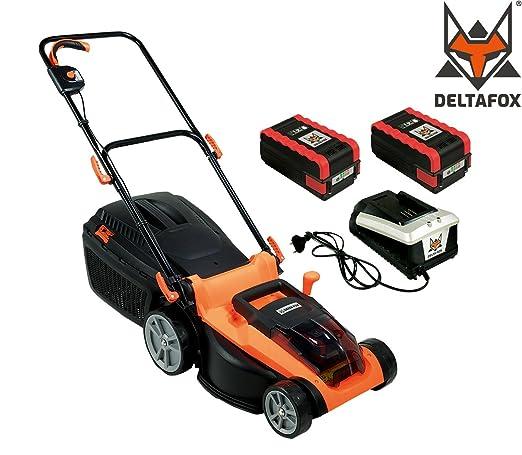 Delta Fox batería Cortacésped Ion de litio 2 x Batería + Cargador ...