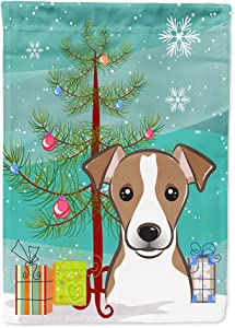 Caroline's Treasures BB1632GF Christmas Tree and Jack Russell Terrier Flag Garden Size, Small, Multicolor