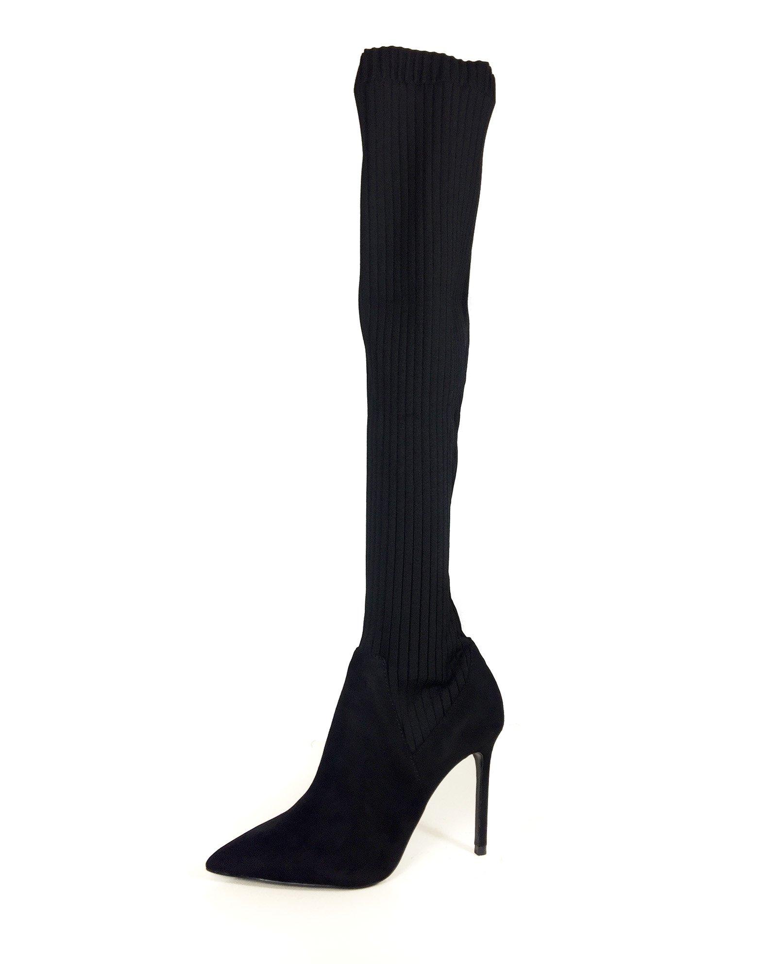 Zara Women Sock-style high heel boots 6018/201 (39 EU   8 US   6 UK)