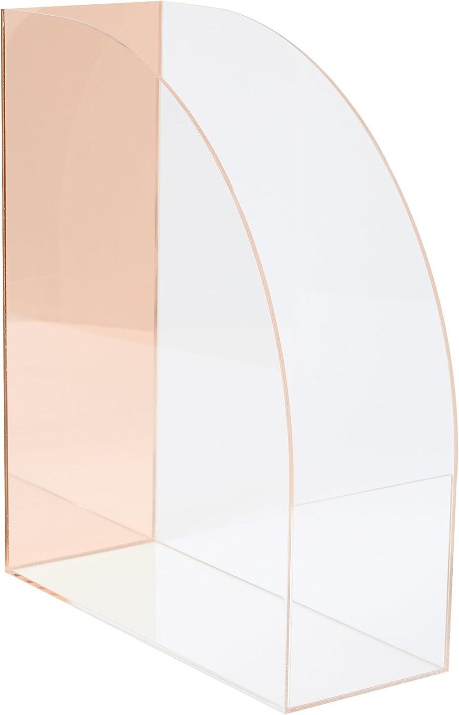 C.R. Gibson Pink Acrylic Mirror Desktop Organizer, 4'' x 12'' x 10''