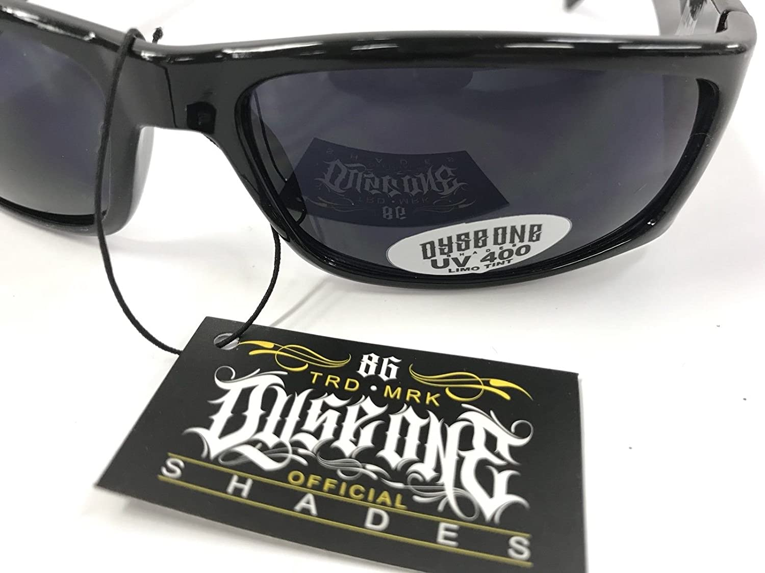 Authentic Dyse One Shades Raiders Skull Silver & Black Sunglasses California Lowrider Style
