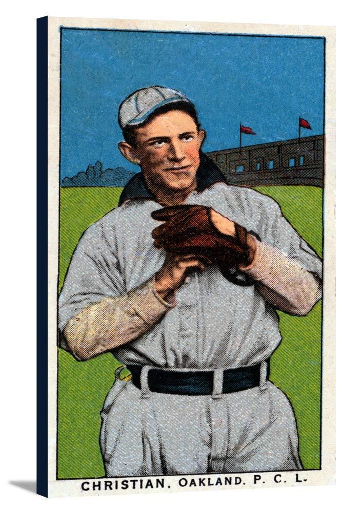 Oakland Pacific Coast League – Christian – 野球カード 19 5/8 x 36 Gallery Canvas LANT-3P-SC-23471-24x36 B0184AIZMW  19 5/8 x 36 Gallery Canvas