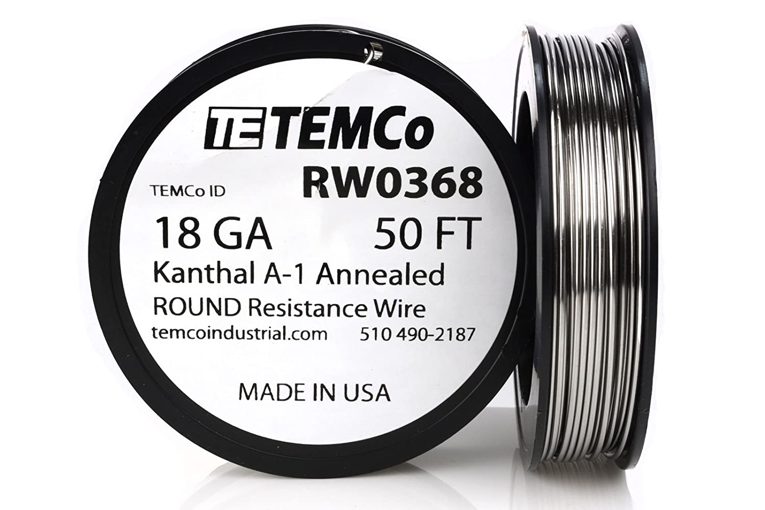temco kanthal a1 wire 18 gauge 1 lb 253 ft resistance awg a 1 ga temco kanthal a1 wire 18 gauge 1 lb 253 ft resistance awg a 1 ga amazon com