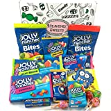 Large American Jolly Rancher Sweet Hamper Box | Includes Jolly Rancher Hard Candy, Chews, Sour Blue Raspberry, Lollipops | Pick & Mix Gift Set | Arrives in Heavenly Sweets Retro Gift Box