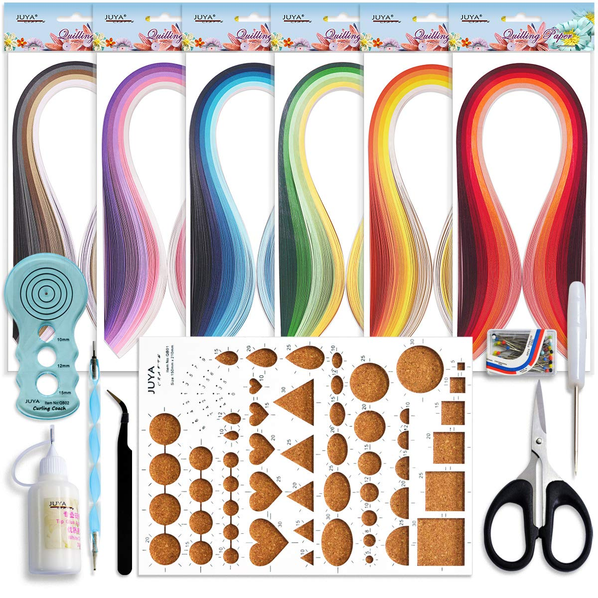 QUILLING - FILIGRANA Kit de iniciacion 30 colores 5mm Juya