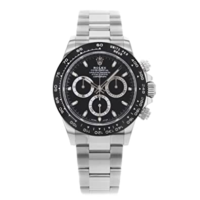 e0b73ab8412 ROLEX Cosmograph Daytona Black Dial Stainless Steel Oyster Men's Watch  116500