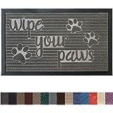 Gorilla Grip Original Durable Rubber Door Mat, 29x17, Heavy Duty Pet + Dog Doormat, Indoor Outdoor, Waterproof, Easy Clean, Low-Profile Mats for Entry Garage, Patio, High Traffic Areas, Stone Paws