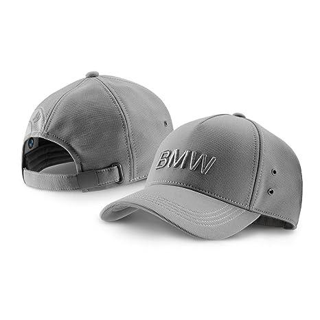 36491950e1c Amazon.com  BMW Genuine Wordmark Logo Gray Grey Hat Cap  Automotive