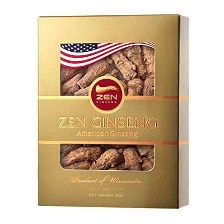 Mother s Day Special Short Round American Wisconsin Ginseng Root 4oz Box ZenGinseng USA