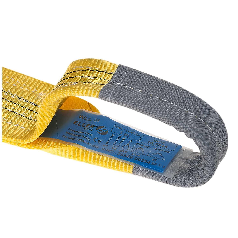 ELLERsling webbing sling; 3t; Length 4m; width 90mm !2-Pack