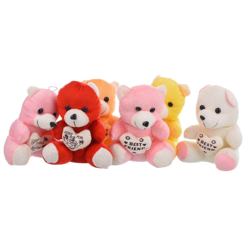 buy elite class teddy bear set of 6 teddies multi colour online at