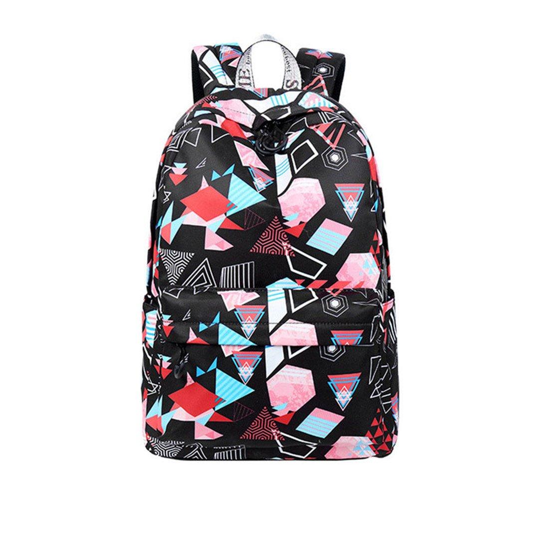 B 1 Pcs 15 Inches Printed Teen New Geometric Laptop Backpack