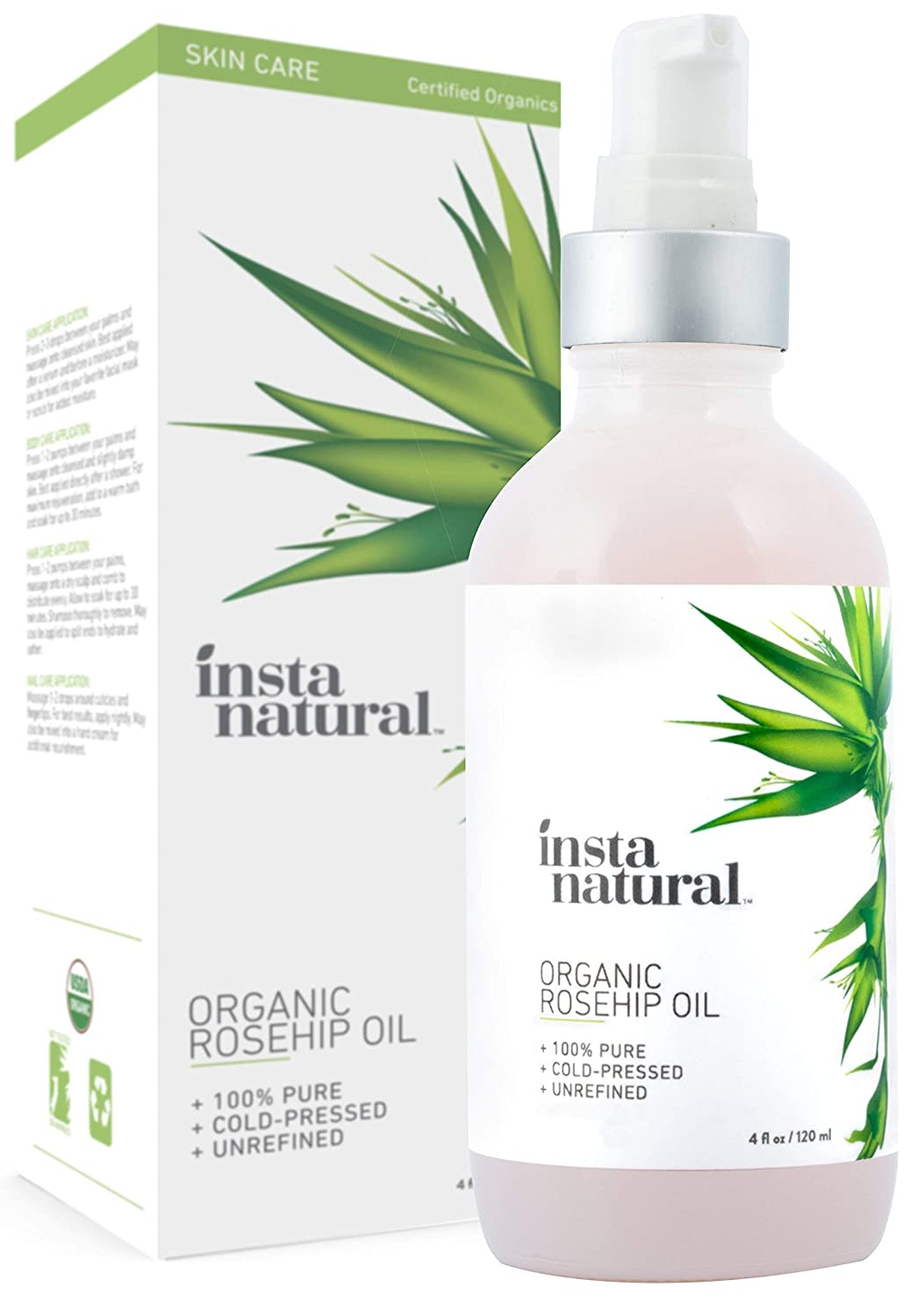 Organic Rosehip Seed Oil - 100% Pure, Unrefined Virgin Oil - Natural Moisturizer for Face, Skin, Hair, Stretch Marks, Scars, Wrinkles, Fine Lines & Nails
